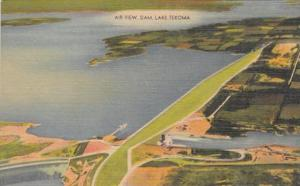 Oklahoma Lake Texoma Dam Aerial View