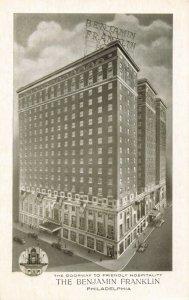 Postcard The Benjamin Franklin Hotel Philadelphia Pennsylvania