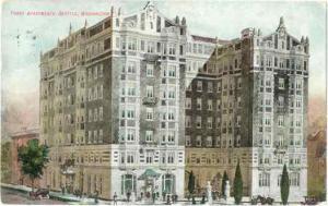 Parry Apartments Seattle Washington WA, 1909 Divided Back
