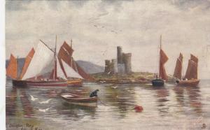 DOUGLAS, Isle of Man, PU-1908; Douglas Bay, Tower of Refuge, Boats, TUCK # 6216
