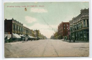 Broadway Looking South Pittsburg Kansas 1909 postcard