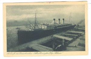 Ocean Liner CAP POLONIO at wharf, Hamburg , Germany , PU-1926