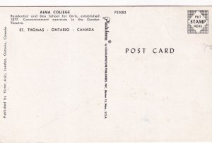 ST. THOMAS, Ontario, Canada, 1940-1960s; Alma College, Residential And Day Sc...