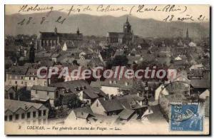 Old Postcard Colmar Vue Generale And Chaine Des Vosges
