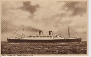 Cunard R.M.S. Mauretania - Unused - B&W