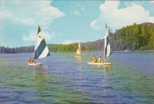 Minnesota Deerwood Sailing On Lake Placid At Camp Arrowhead For Boys