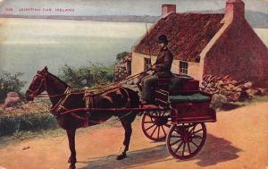 Jaunting car, Ireland, Early Postcard, Unused