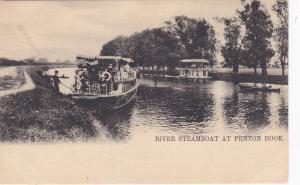 River Steamboat at PENTON HOOK , near Laleham, Surrey ; 1901-1907 ; TUCK