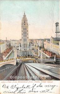 Amusement Park Postcard Post Card View from Dreamland From Chutes Coney Islan...
