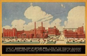 Anheuser Busch Budweiser Beer Principal Bldgs Postcard #5