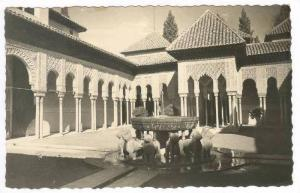 RP, Patio De Los Leones, Alhambra, Granada (Andalucia), Spain, 20-40s