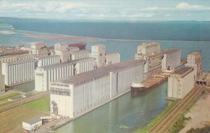 A few of the many Grain Elevators at Fort William and Port Arthur,  Ontario, ...