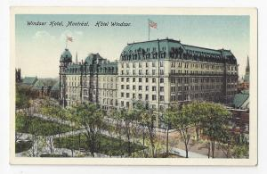 Canada Montreal Quebec Windsor Hotel Vintage Postcard