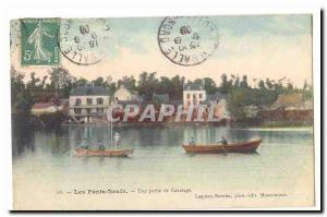 New Bridges Old Postcard A Boating Party