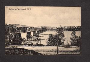 NB Bridge Woodstock New Brunswick Canada Carte Postale Postcard Private Card