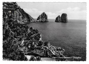 Italy Capri Faraglioni Saracen Tower The Crags Rocks Glossy Photo 4X6 Postcard