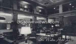 Sir Walter Hotel Raleigh NC Postal Used Unknown