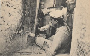 Germany , War 1914-18 ; Miner at work in trenches