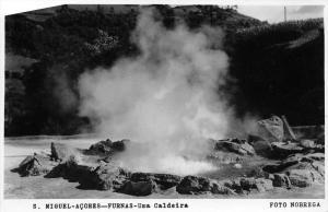 11492  Azores  Sao Miguel Furnas 1950's  Uma Caldeira