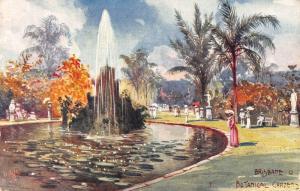Australia Brisbane Botanical Gardens Statues Esplanade Postcard