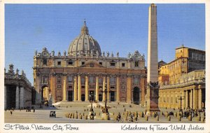 St. Peter's, Vatican City, Rome Kodachrome by Trans World Airlines Airplane U...