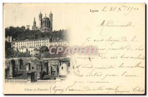 Old Postcard Coteau de Fourviere Lyon