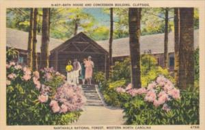 North Carolina Cliffside Bath House and Concession Building Nantahala Nationa...
