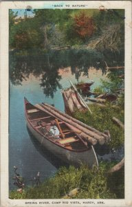 back to nature vintage postcard