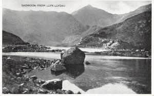 Vintage Wales Postcard, Snowdon from Llyn Llydau Z3