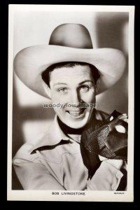b1619 - Film Actor - Bob Livingstone - Picturegoer No.1284 - postcard