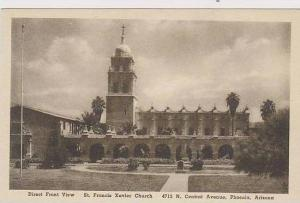Arizona Phoenix Direct Front View St Francis Xavier Church 4715 N Central Ave...