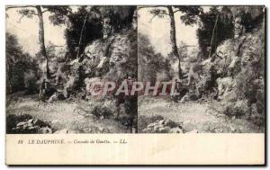 Stereoscopic Card - The Dauphine - Cascade Gout - Old Postcard
