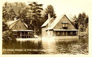 NY - Tupper Lake. Legion Camp, Bill Deegan Cottage, Club Room  RPPC