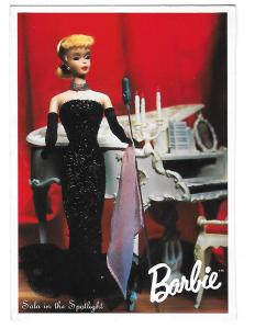 Solo in the Spotlight Mattel 1960 Nostalgic Official Barbie Doll Card  4 by 6