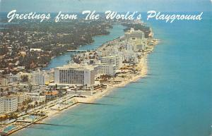 USA Greetings from The World's Playground Miami Beach Florida Hotels