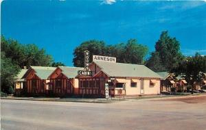 Rapid City SD Arneson Motel Rooms & Cabins @ 127 St Joseph Street~50s Postcar