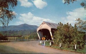 Covered Bridge - View of Mt Ascutney VT, Vermont