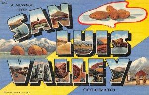 LPS25 San Luis Valley Colorado LARGE Big Letter Postcard Views