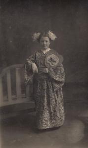 British Child In Japanese Kimono Antique Fashion Postcard