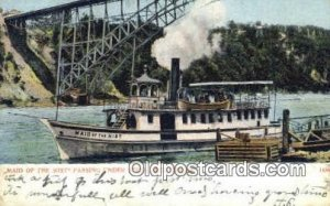 Maid Of The Mist Passing Under Steel Arch Bridge, Niagara Falls, New York, NY...