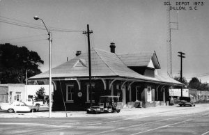 Dillon South Carolina SCL Depot Train Station Real Photo Postcard JF685988