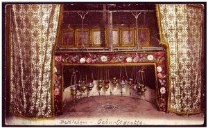 Geburtsgrotte - Palestine Bethlehem Color Postcard Christianity