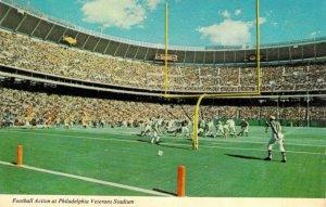 Old Veterans Stadium Philadelphia PA Phillies Eagles Chrome Unposted Postcard