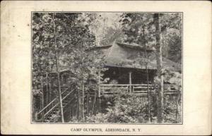 Camp Olympus Adirondack NY c1910 Postcard