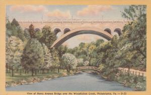 Henry Avenue Bridge over Wissahickon Creek Philadelphia PA Pennsylvania - Linen