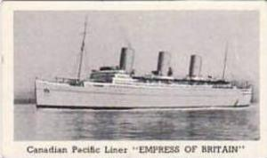 Murray Vintage Cigarette Card Steam Ships 1939 No 5 Canadian Pacific Liner EM...