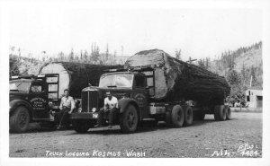 RPPC Truck Logging KOSMOS, WA Harry Scalf Ellis Photo c1940s Vintage Postcard