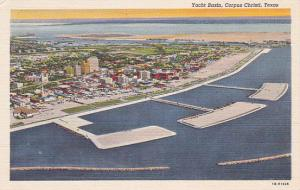 CORPUS CHRISTI , Texas , 30-40s; Aerial View of Yacht Basin