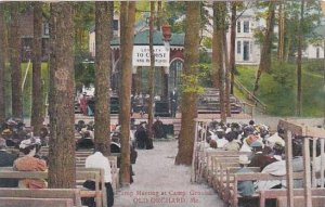Maine Old Orchard Camp Meeting At Camp Ground 1910