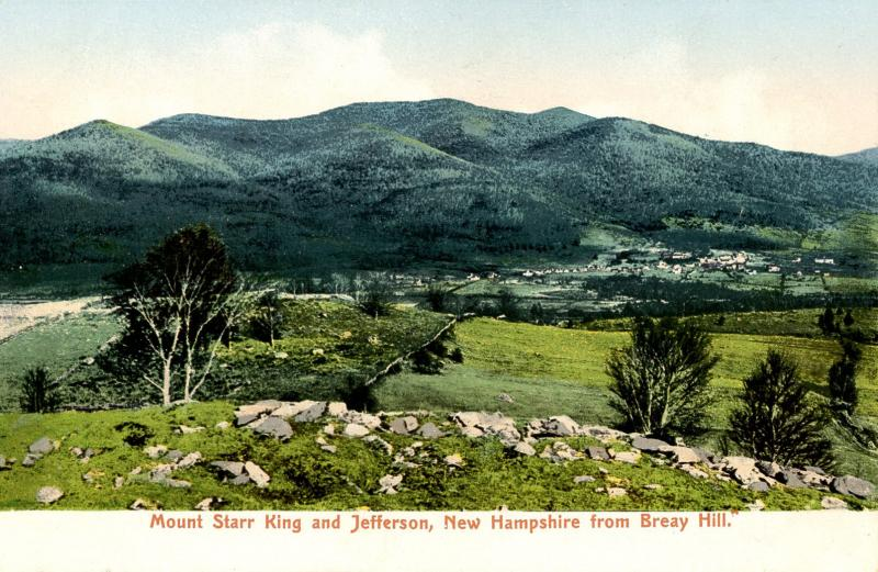 NH - Jefferson and Mt Starr King from Breay (Bray) Hill, Whitefield